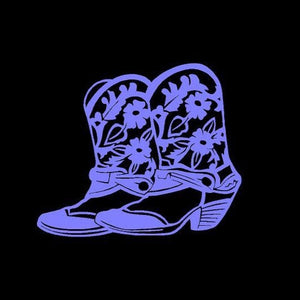 Western Cowgirl Boots Decal Custom Vinyl car truck window laptop Sticker