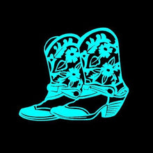 Load image into Gallery viewer, cowgirl boots turquoise