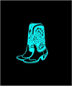 cowgirl boots sticker