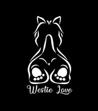 Load image into Gallery viewer, westie love west highland white terrier decal car truck window dog sticker