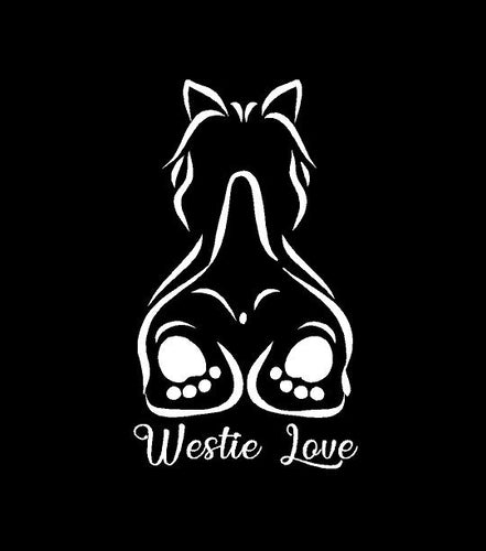 westie love west highland white terrier decal car truck window dog sticker