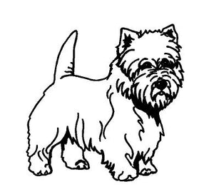 Westie dog decal