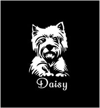 Load image into Gallery viewer, westie west highland white terrier decal car truck window dog sticker