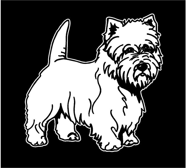 Westie decal west highland white terrier sticker