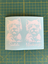Load image into Gallery viewer, westie car decals personalized