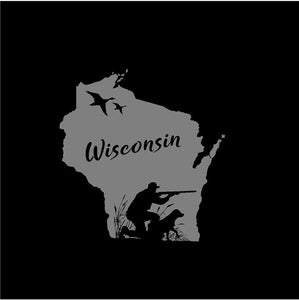 Wisconsin State Duck Hunter Hunting decal Custom Vinyl Car Truck window sticker