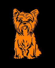 Load image into Gallery viewer, yorkshire terrier car window decal
