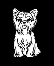 Load image into Gallery viewer, yorkie car window decal