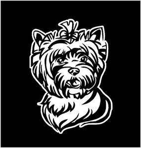 Yorkie Dog Yorkshire Terrier Decal Custom Vinyl Car Truck Window Sticker Personalize
