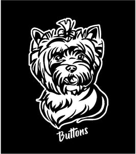 yorkie decal yorkshire terrier car truck window dog sticker