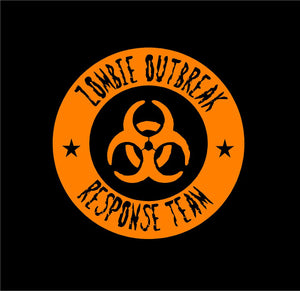zombie outbread response team decal