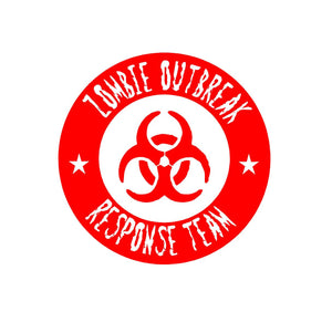 Zombie outbread response team sticker