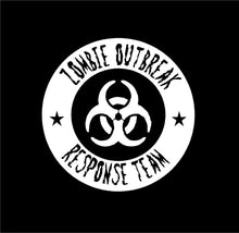 Load image into Gallery viewer, zombie outbreak response team car decal