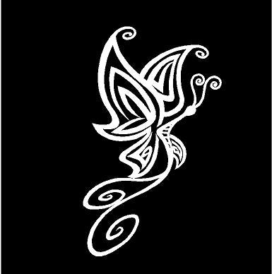 Butterfly decal car truck window drinkware laptop sticker