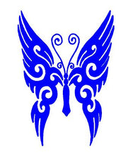 Load image into Gallery viewer, blue butterfly decal