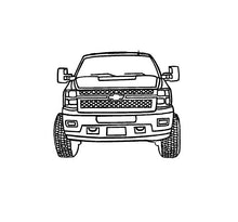 Load image into Gallery viewer, Chevy Truck Line art