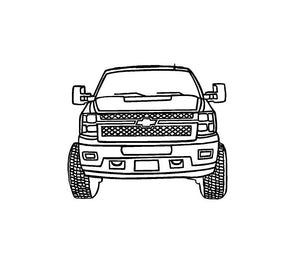 Chevy Truck Line art