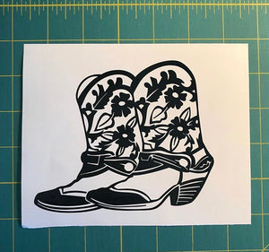 cowgirl boots decal