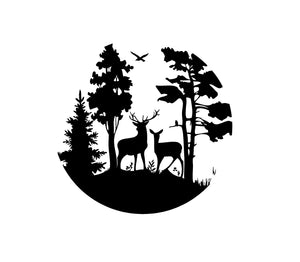 Hunting Wildlife Deer Scene Custom Vinyl Car Truck Window Decal sticker