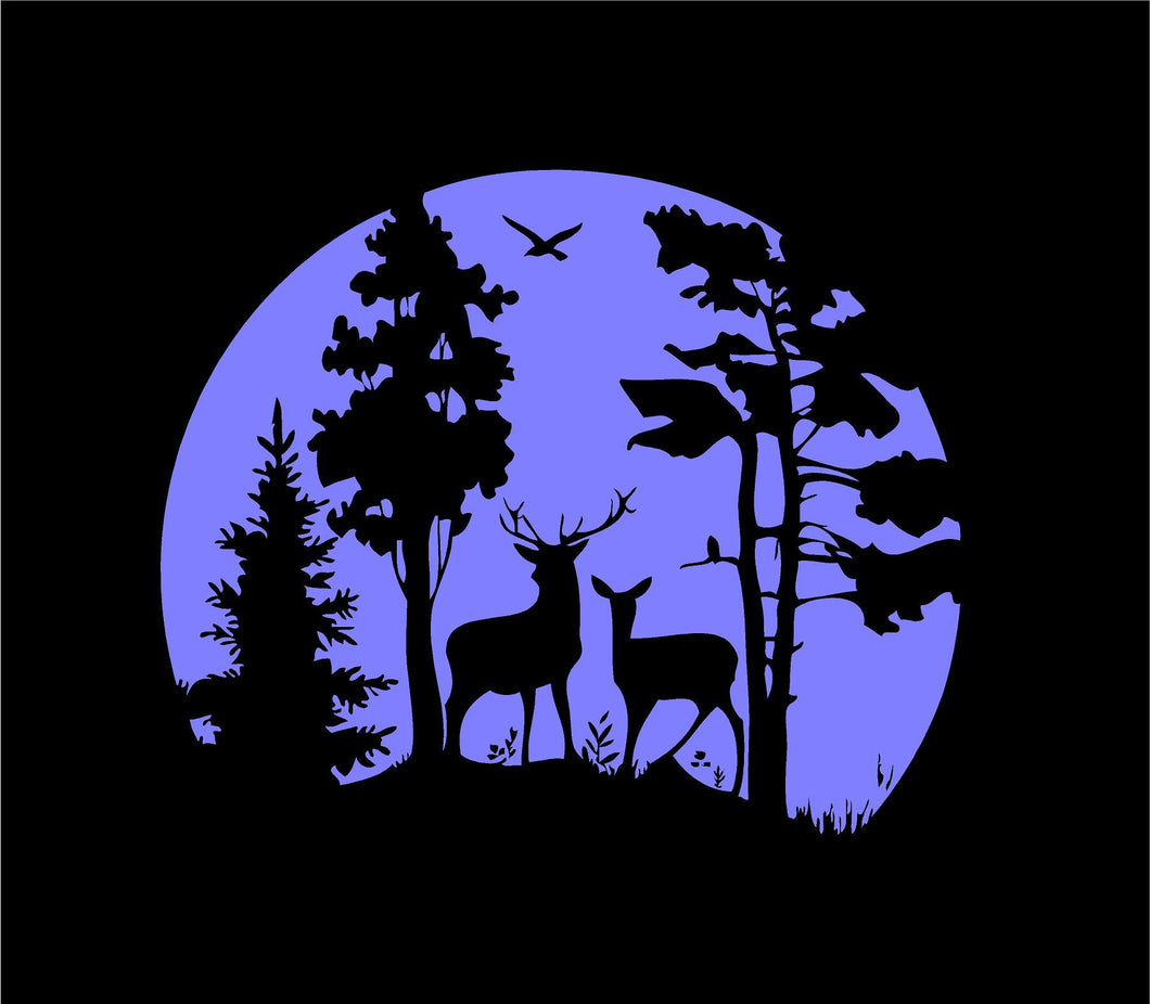 deer hunting wildlife scene custom car truck window sticker