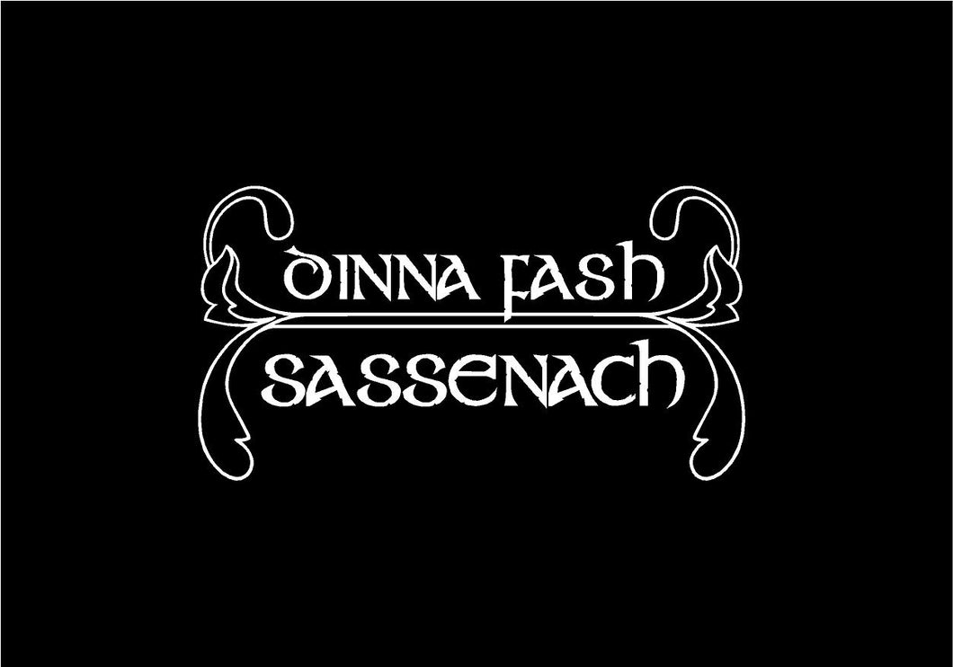 dinna fash sassenach decal outlander car truck window sticker