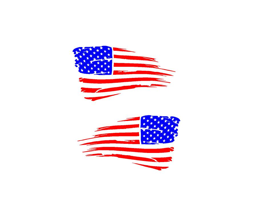 distressed usa flag decals american car truck window patriotic stickers