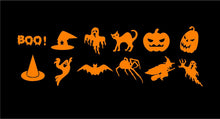Load image into Gallery viewer, Halloween Mini Decals Custom Vinyl Craft Project Stickers Set of 12