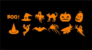 Halloween Mini Decals Custom Vinyl Craft Project Stickers Set of 12