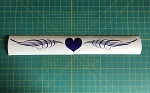 heart windsheild banner decal