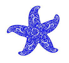 Load image into Gallery viewer, henna starfish car decal