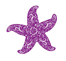 Load image into Gallery viewer, starfish henna style decal