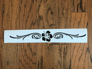 black flower windshield banner decal