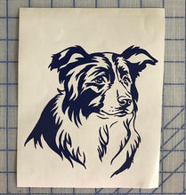 Load image into Gallery viewer, border collie car window decal