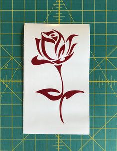 Rose Decal Custom Vinyl Car Truck Window Laptop Simple Flower Sticker
