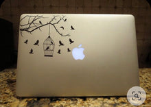 Load image into Gallery viewer, bird cage laptop decal sticker