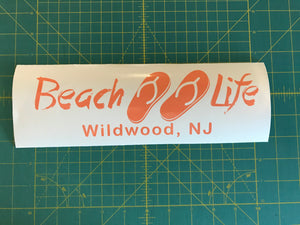 Beach Life Customizable Decal Beach Lover car window vinyl sticker