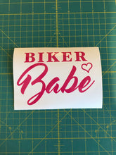 Load image into Gallery viewer, Biker Babe Biker Chick decal custom vinyl car window sticker
