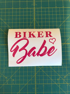 Biker Babe Biker Chick decal custom vinyl car window sticker