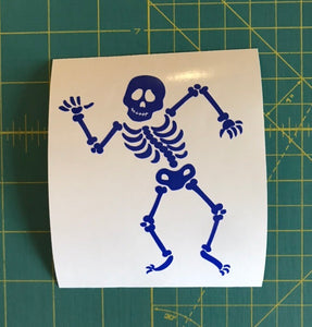 Skeleton Decal Custom Vinyl Car Truck window Laptop Halloween Sticker