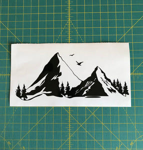 Mountain range car truck window decal