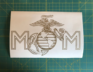 USMC EGA Mom Miliary Decal Custom US Marine Vinyl Car Truck Window Sticker