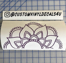 Load image into Gallery viewer, Mandala Sunflower decal Custom Boho Style vinyl car window laptop sticker