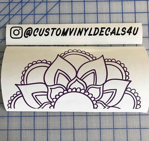 Mandala Sunflower decal Custom Boho Style vinyl car window laptop sticker