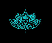 Load image into Gallery viewer, lotus flower decal intricate car truck window boho sticker