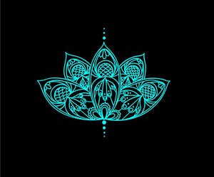 lotus flower decal intricate car truck window boho sticker