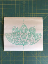 Load image into Gallery viewer, Lotus Flower Decal Intricate custom Vinyl car truck laptop boho sticker
