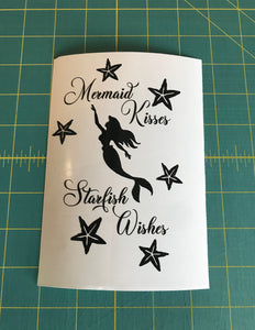 mermaid kisses starfish wishes decal fairy light sticker