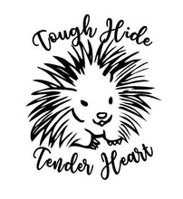 Load image into Gallery viewer, tough hide tender heart porcupine decal car truck window sticker