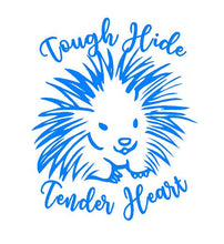 Load image into Gallery viewer, Tough Hide Tender Heart Porcupine Decal car truck window laptop Sticker