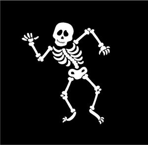 skeleton decal car truck window laptop bones sticker